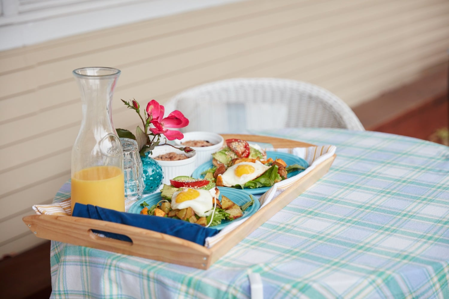 GABB Complete Breakfast Tray Serve on Porch Table. Harrison. 2020 (1)