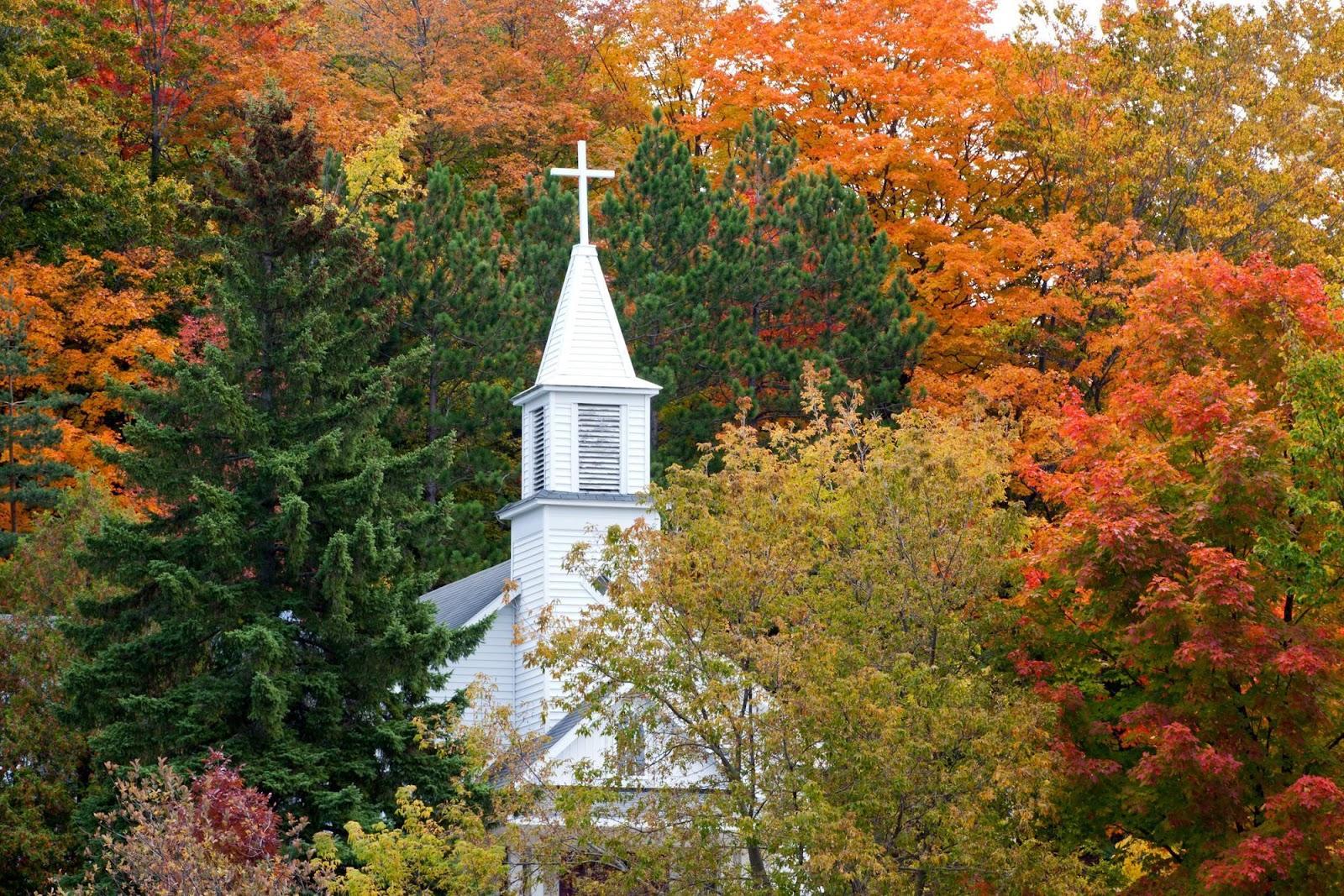church fall leaves GABB